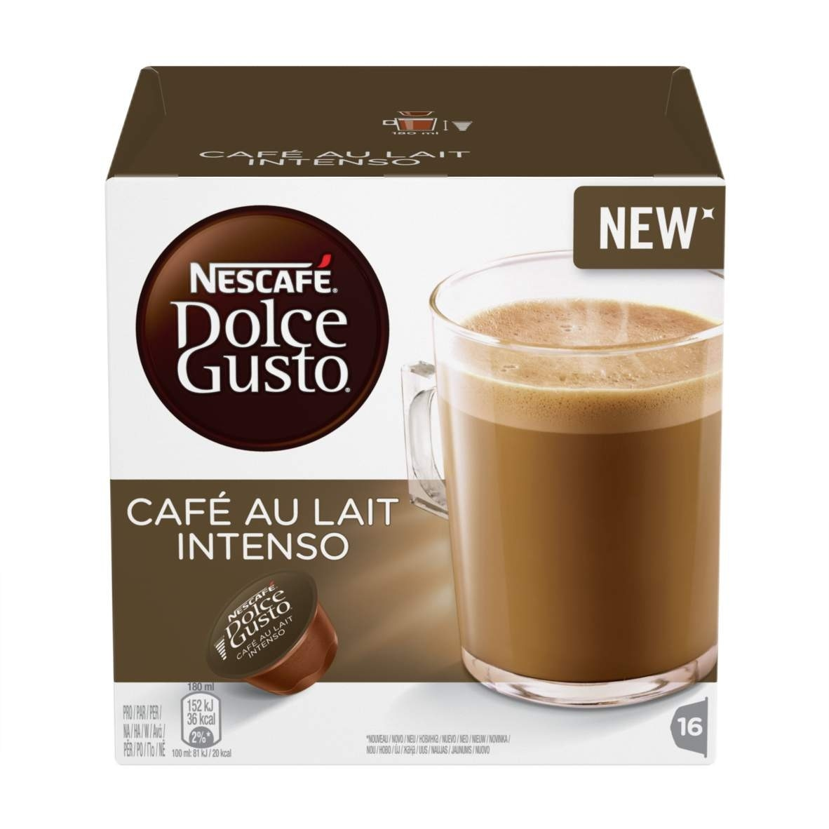 Cafe au lait intenso dezute